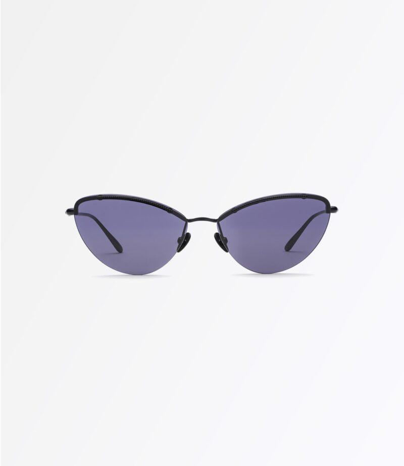 welcome-eyewear-c18s1-tara-matte-black-metal-solid-blue-lenses-front-view