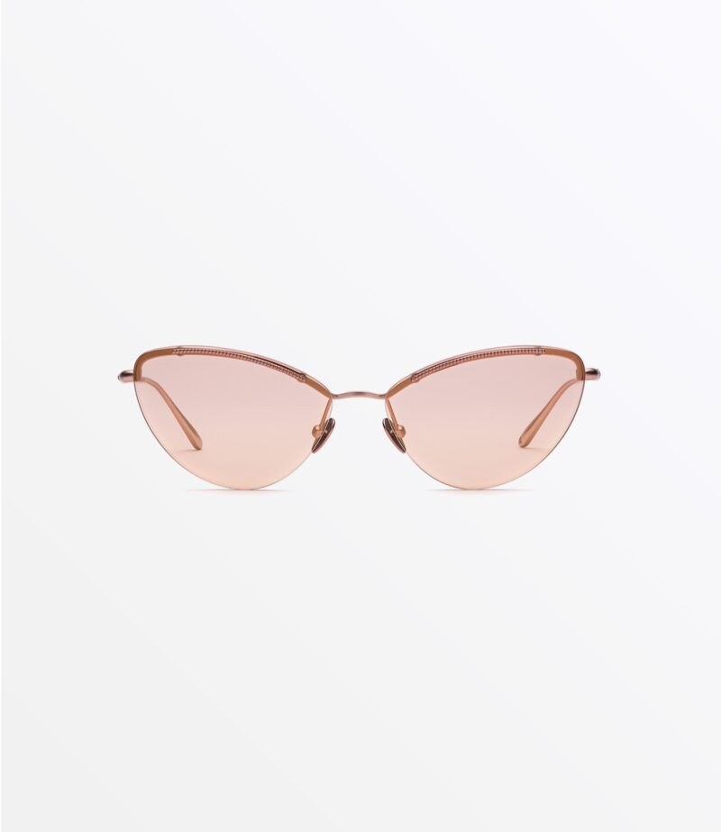welcome-eyewear-c18s1-tara-matte-pastel-peach-metal-mirror-peach-fuzz-lenses-front-view
