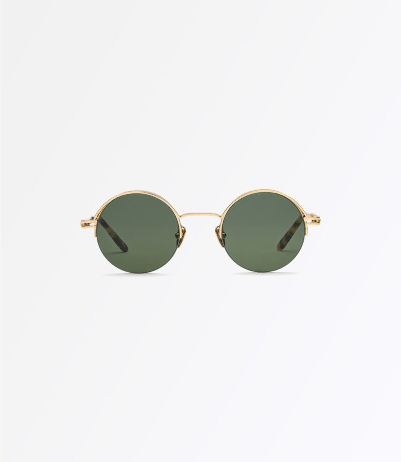 welcome-eyewear-c18s2-magnolia-classic-gold-metal-solid-green-lenses-front-view