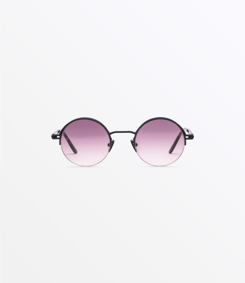 welcome-eyewear-c18s2-magnolia-matte-black-metal-wine-gradient-lenses-front-view