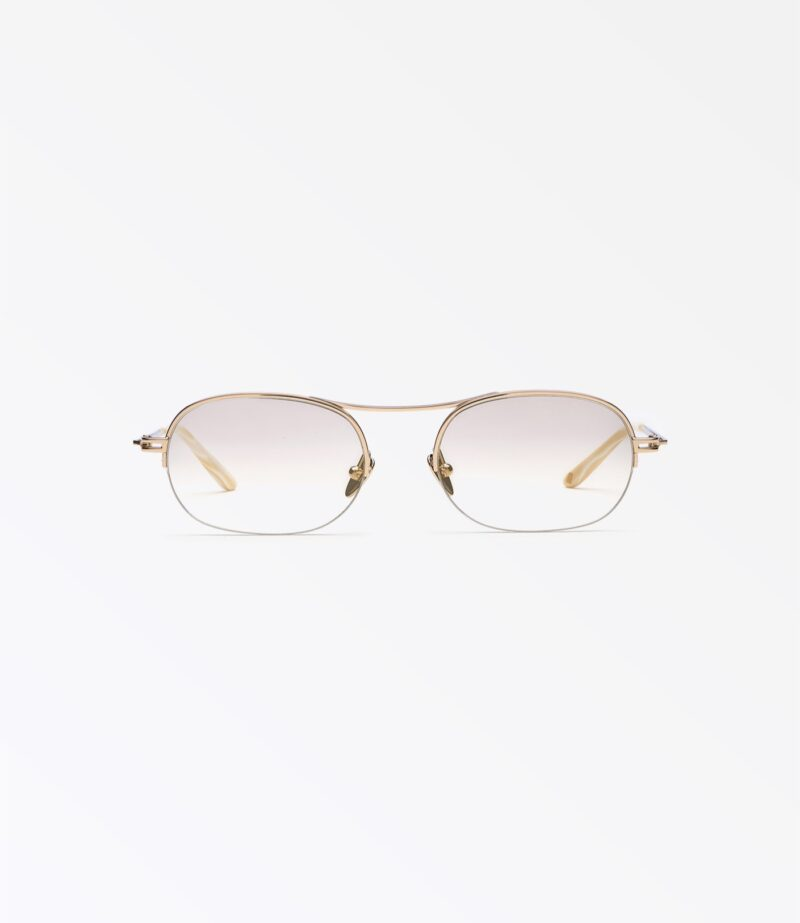 welcome-eyewear-c18s3-dice-light-gold-metal-gradient-invisible-tint-lenses-front-view