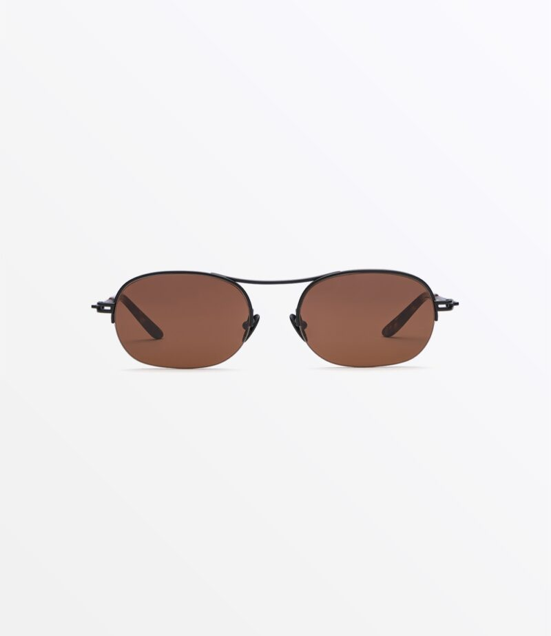welcome-eyewear-c18s3-dice-matte-black-metal-new-brown-lenses-front-view